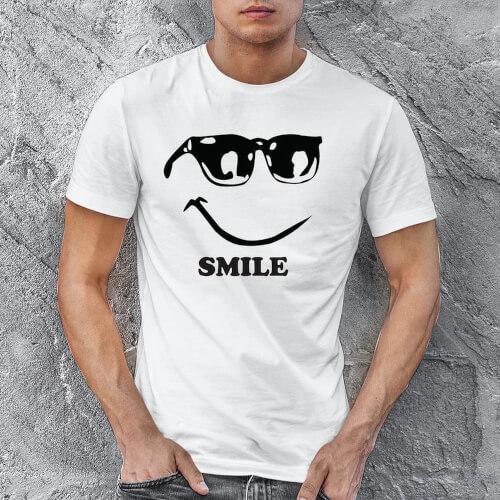 Mutlu Erkek Tişört - Tekli Kombin