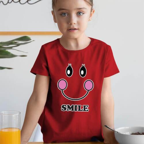 Tisho - Mutlu Kız Çocuk Tişört - Tekli Kombin