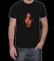hediyeburada - Müzik Notası Baskılı Erkek Tişört