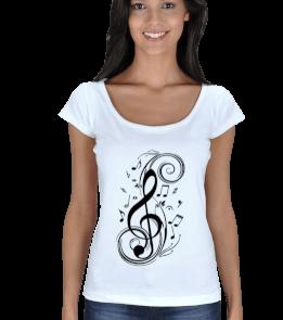 Müzik Tutkunu Kadın Açık Yaka