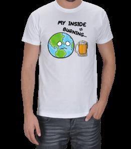 OTdesign - My Inside is Burning Erkek Tişört