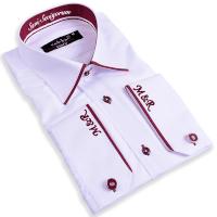 Tisho - Nakış İşlemeli Kişiye Özel Erkek Slim Fit Gömlek