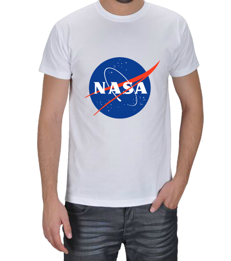 Chimonto Artz - NASA Logolu Beyaz Erkek Tişört