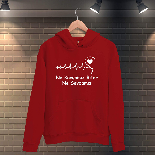 Tisho - Ne Kavgamız Biter Ne Sevdamız Kadın Kapüşonlu Sweatshirt