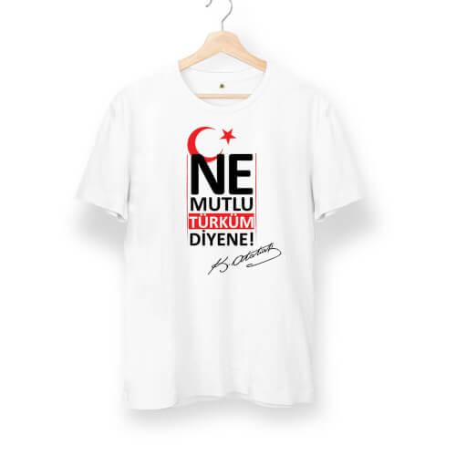 Ne Mutlu Türküm Diyene Unisex Kısa Kol Tişört