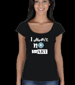 nnshpldesign - NO HEART Kadın Açık Yaka