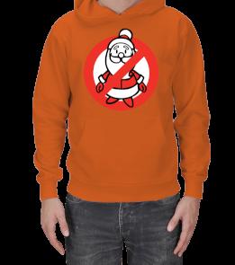 LoveME - No Santa SweatShirt Erkek Erkek Kapşonlu