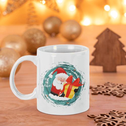 Tisho - Noel Baba Baskılı Beyaz Kupa Bardak