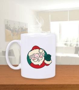 SevoDesign - Noel Baba Kupa Bardak Beyaz Kupa Bardak