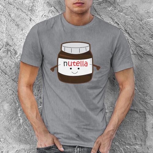 Nutella Erkek Tişört - Tekli Kombin - Thumbnail