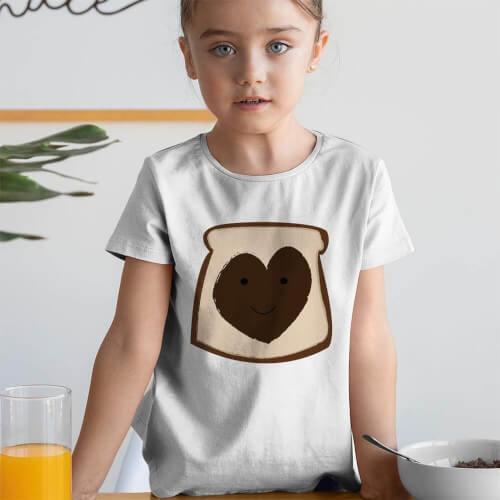 Tisho - Nutella Kız Çocuk Tişört - Tekli Kombin
