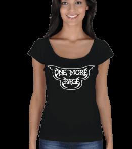 One More Page - omp logo açık yaka bayan Kadın Açık Yaka