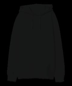 Oversize Unisex Kapüşonlu Sweatshirt - Thumbnail