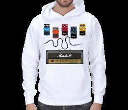 MA DESING - Özel Tasarım Gitar Sweetshirt Erkek Erkek Kapşonlu