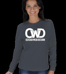 Ozicab Web Design - Ozicab Logolu KADIN SWEATSHIRT