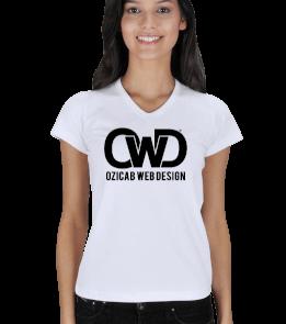 Ozicab Web Design - Ozicab Logolu Kadın V Yaka
