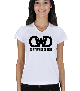 Ozicab Logolu Kadın V Yaka