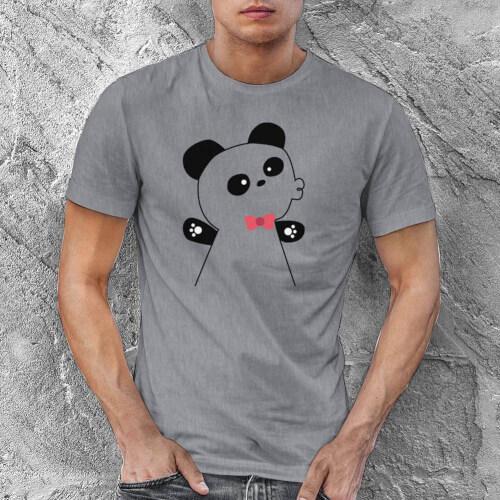 Panda Erkek Kısa Kol Tişört - Tekli Kombin