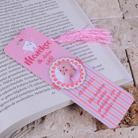 Pembe Diş Buğdayı Kitap Ayracı