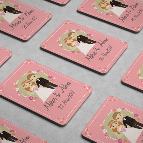 Pembe Düğün - Nişan Magneti - Thumbnail