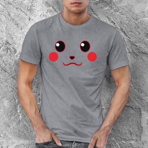 Pikachu Erkek Kısa Kol Tişört - Tekli Kombin