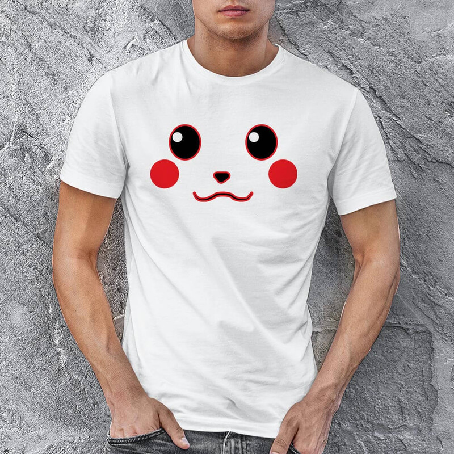 Pikachu Erkek Kısa Kol Tişört - Tekli Kombin - Thumbnail