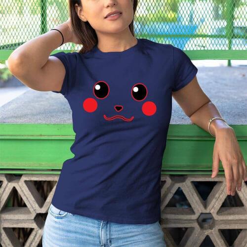 Pikachu Kadın Kısa Kol Tişört - Tekli Kombin - Thumbnail