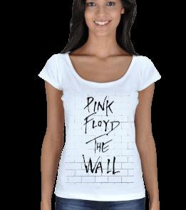sphynx - pink floyd the wall t-shirt Kadın Açık Yaka