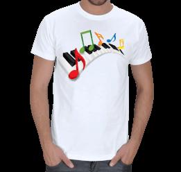 Alo Tasarım - Piyano müzik notalar Erkek Tişört