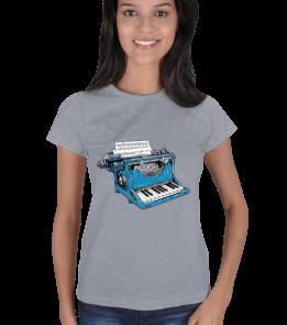 hangerart - Piyano T-Shirt Kadın Tişört