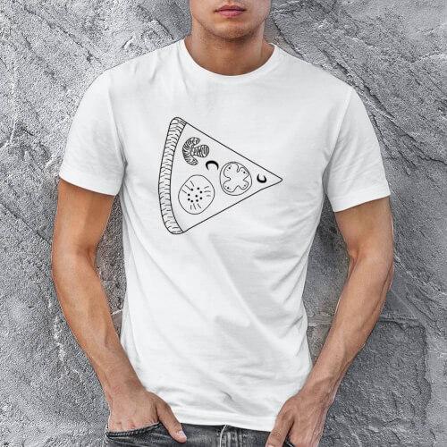 Tisho - Pizza Baskılı Erkek Kısa Kol Tişört - Tekli Kombin
