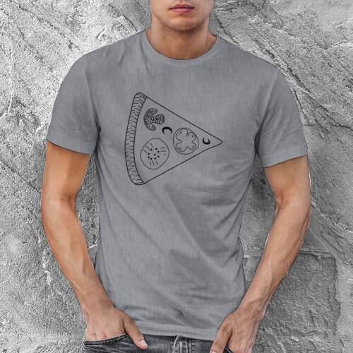 Pizza Baskılı Erkek Kısa Kol Tişört - Tekli Kombin