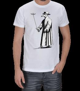 KarantinaDükkanı - Plaque Mask Black Death Erkek Tişört