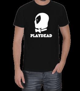 Geek-Shirt - Playdead Tasarımlı Siyah Erkek Tişört