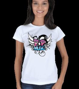 Alo Tasarım - Pop Music Kadın Tişört