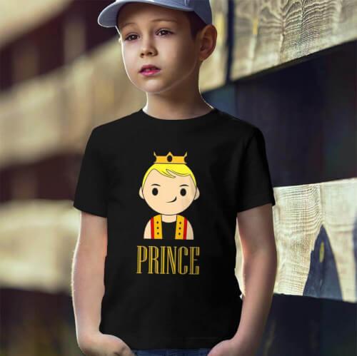 Tisho - Prince Erkek Çocuk Kısa Kol Tişört - Tekli Kombin