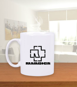 mk1500shop Aksesuar - Rammstein Beyaz Kupa Bardak