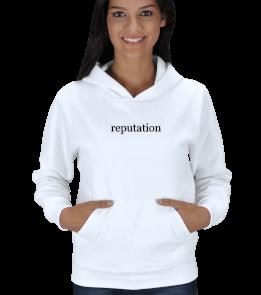 juan - Reputation baskılı sweatshirt Kadın Kapşonlu