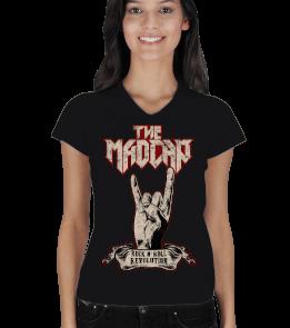 The Madcap - Rock N Roll Revolution Siyah Kadın V Yaka