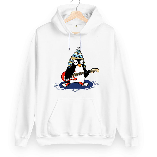 Rock Penguen Unisex Kapüşonlu Sweatshirt