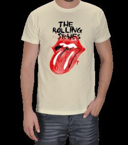 Turuncu Oda Tasarım - Rolling Stones Baskılı Erkek Tişört