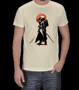 Turuncu Oda Tasarım - Samurai Baskılı Erkek Tişört