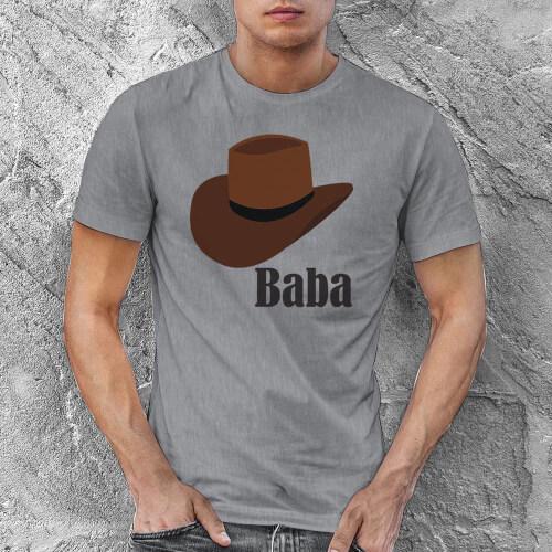 Şapka Temalı Erkek Tişört - Tekli Kombin - Thumbnail