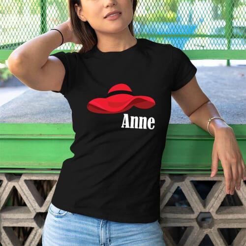 Şapka Temalı Kadın Tişört - Tekli Kombin - Thumbnail