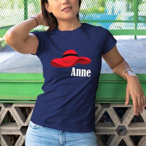 Şapka Temalı Kadın Tişört - Tekli Kombin