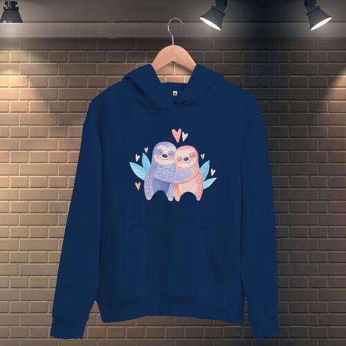 Tisho - Sevgili Kualalar Erkek Kapüşonlu Sweatshirt