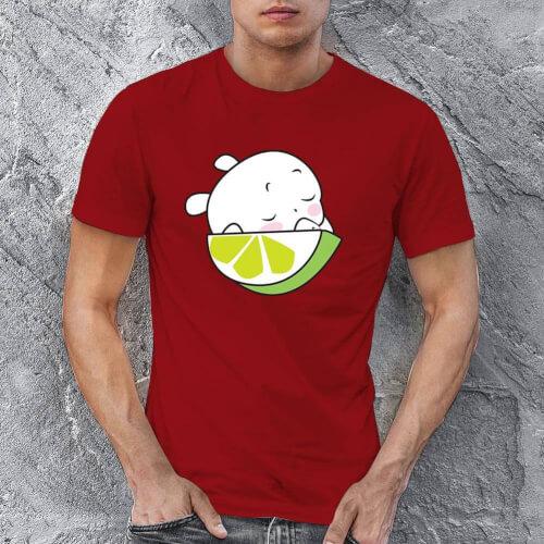 Tisho - Sevimli Meyve Erkek Kısa Kol Tişört - Tekli Kombin