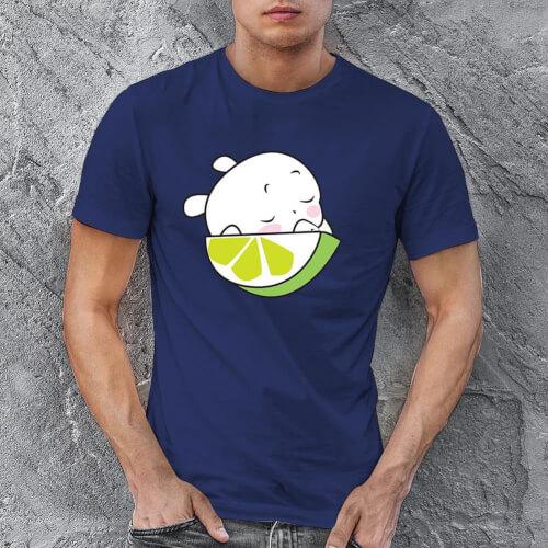 Sevimli Meyve Erkek Kısa Kol Tişört - Tekli Kombin