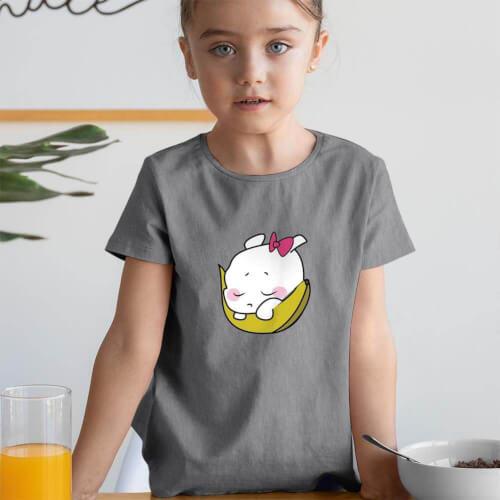 Tisho - Sevimli Meyve Kız Çocuk Kısa Kol Tişört - Tekli Kombin