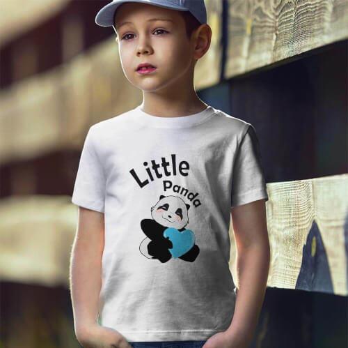 Tisho - Sevimli Panda Erkek Çocuk Tişört - Tekli Kombin